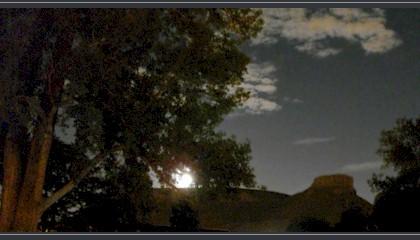 Full moon in Golden Colorado