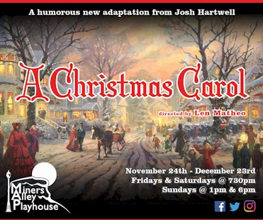 A Christmas Carol at Miners Alley Playhouse - Golden Colorado