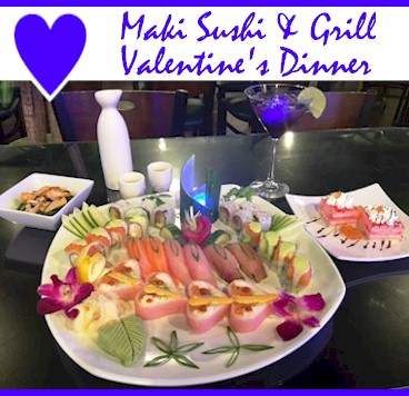Maki Sushi Valentine's Day Dinner - Golden Colorado