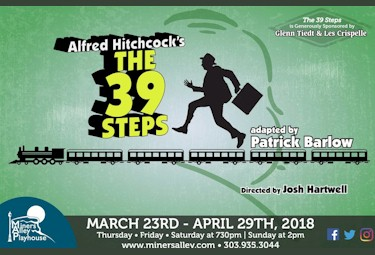 Alfred Hitchcock's The 39 Steps at Miners Alley Playhouse - Golden Colorado