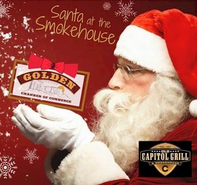 Santa att the Old Capitol Grill & Smokehouse - Golden CO