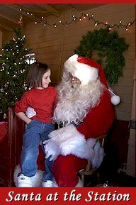 Santa Claus at the Railroad Museum